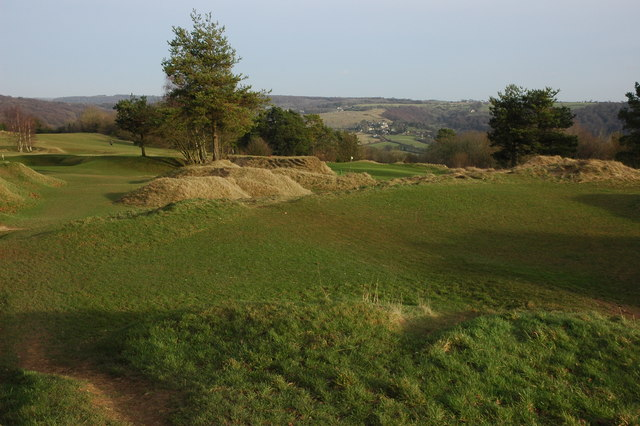 Golf course on Painswick Beacon