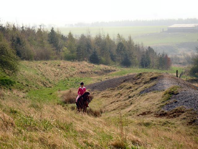 Foot and bridle path near Holehouse