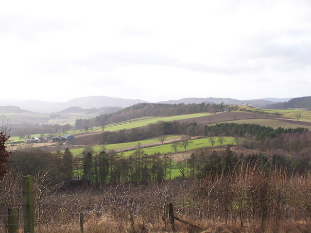 Middle Gourdie and surrounding farmland