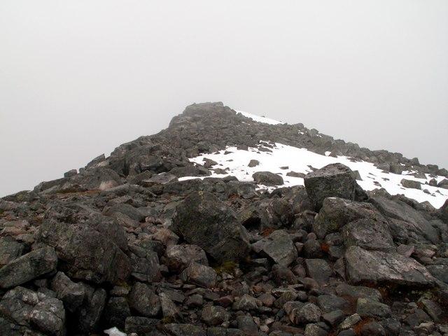 Below the summit of Schiehallion
