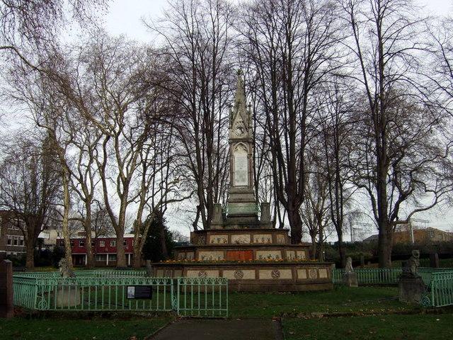 The Burdett-Coutts sundial, St Pancras