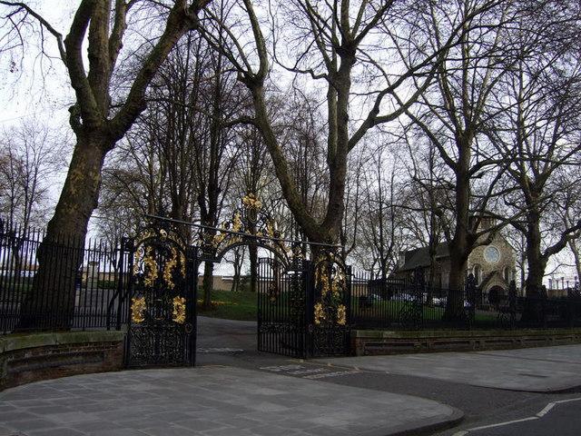 Old St Pancras churchyard entrance gates