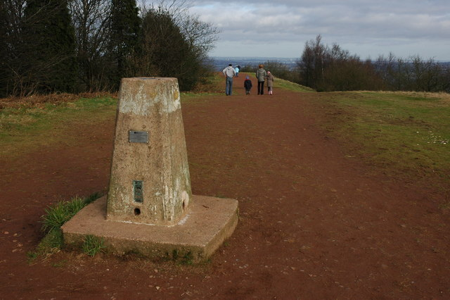 Trig point on Walton Hill