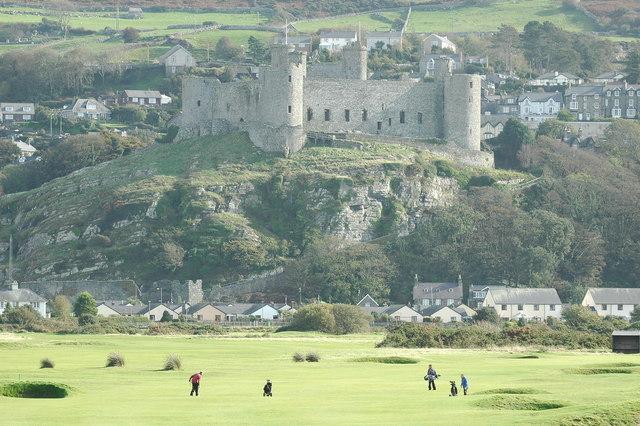 Harlech Castle from Royal St Davids