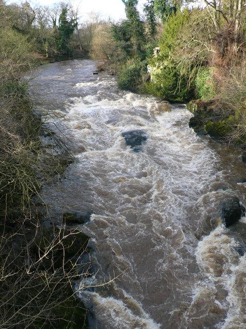 River Almond rapids