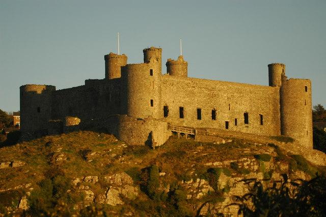 Harlech Castle at sundown