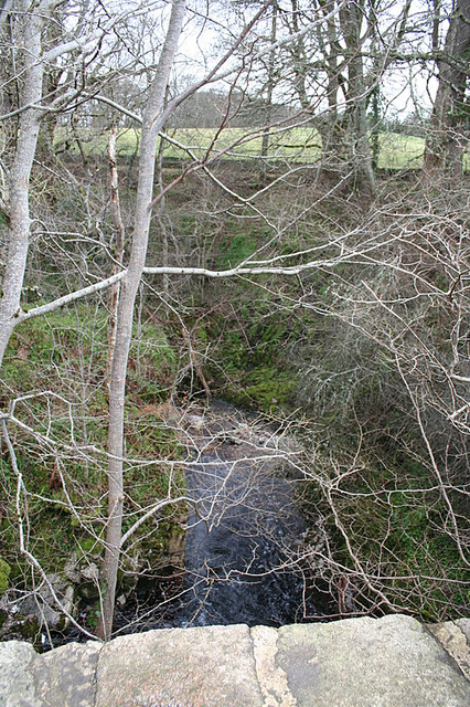Looking downstream on Allt Dearg from Achindown bridge