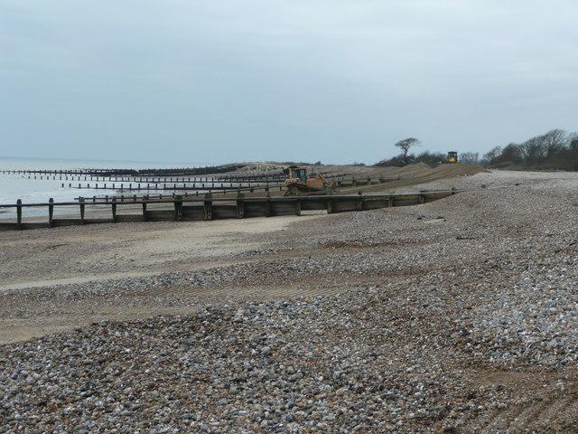 Atherington Beach - view west