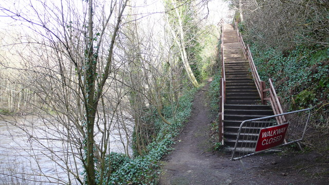 Stairs on River Almond walkway