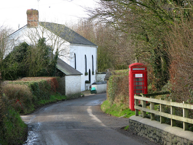 Phonebox at Alminstone Cross