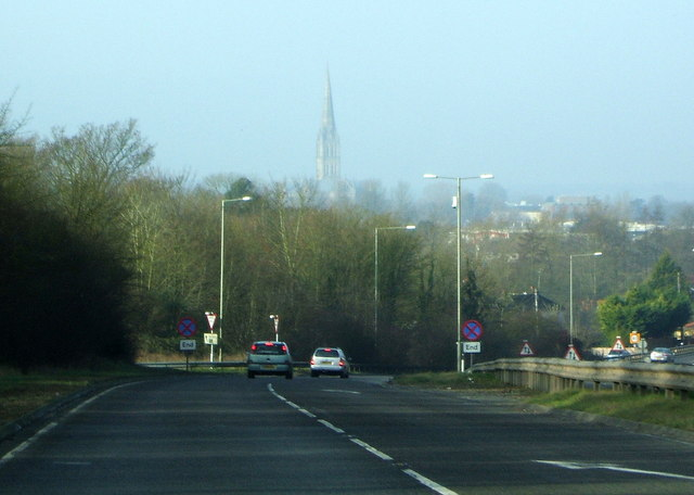 A36 dropping down into Salisbury