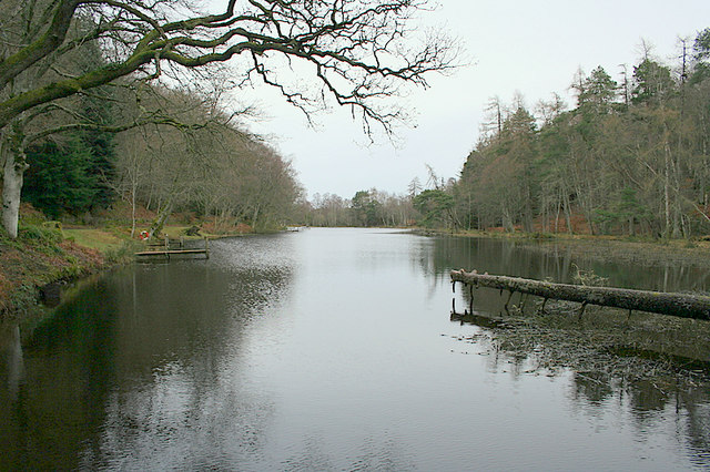 Looking northwards along the waters of Geddes Fishery