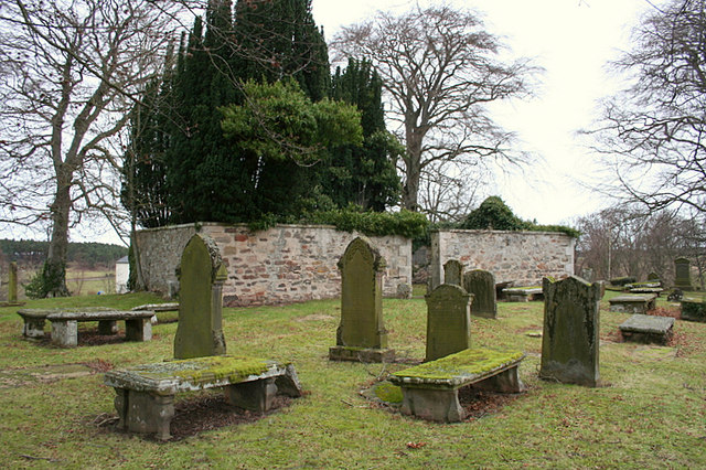 Some ancient headstones in Geddes graveyard