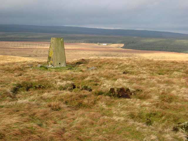 Trig pillar on Spy Crags
