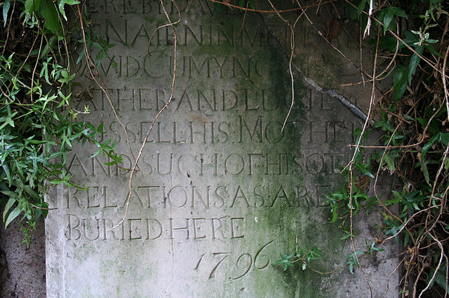 18th century headstone in Geddes graveyard