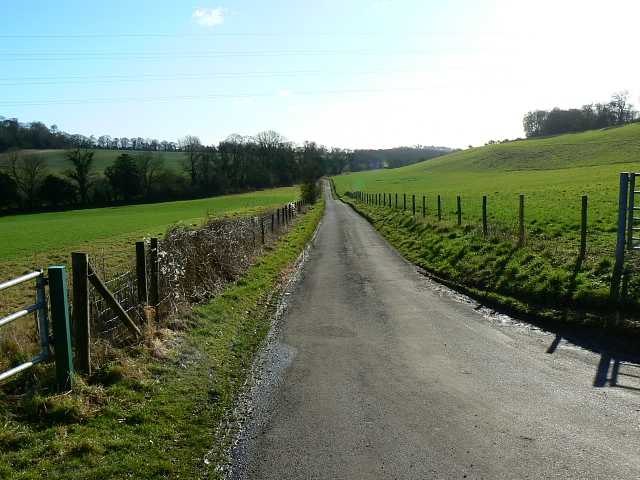 The road to Lower Slackstead, Hampshire