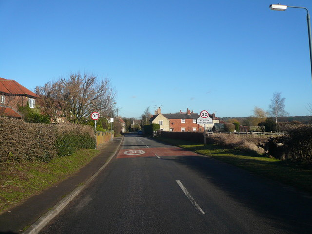 Entering the Village of Norton