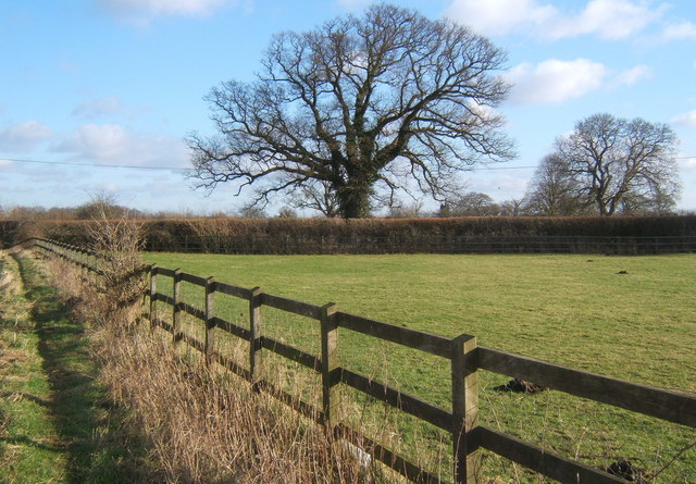 Field by footpath east of Coddenham