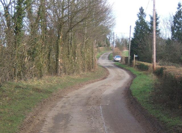 Cooper Road  northeast of Coddenham