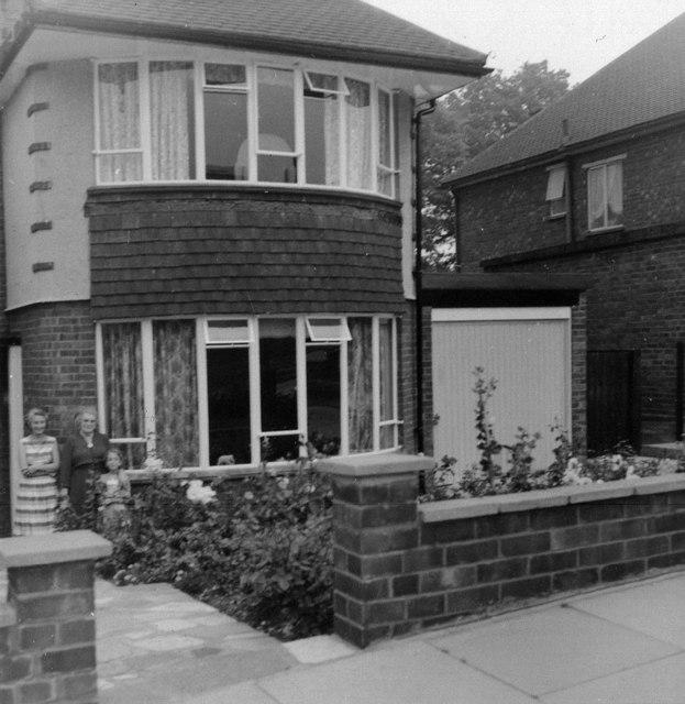 House in South Lodge Drive, London, N14 taken in 1957