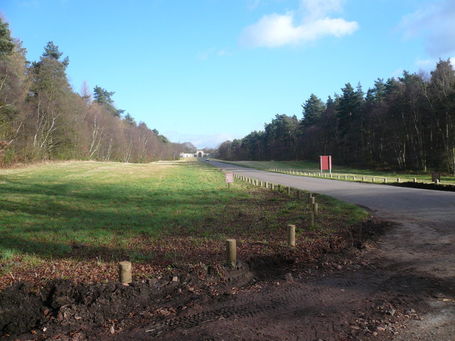 Clumber Park - Approach to Apleyhead Lodge Entrance