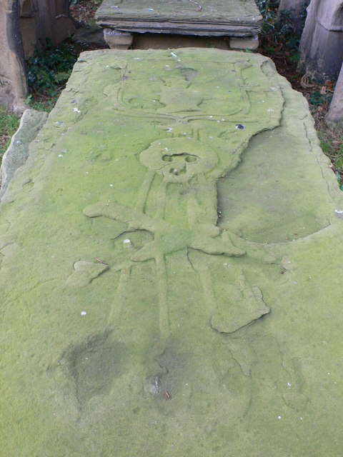 Old grave, Dyserth church