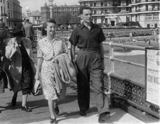 Eastbourne Pier looking towards town taken in 1948