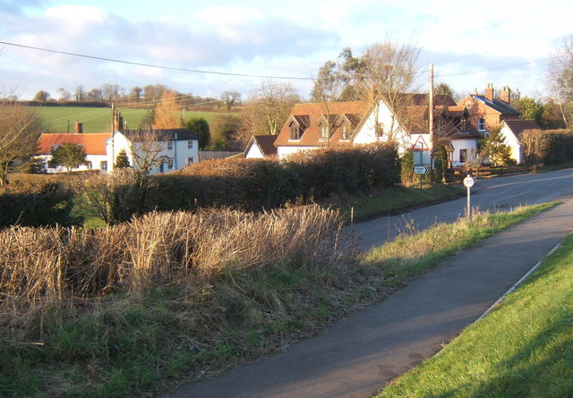 Part of Crowfield near the modern village hall