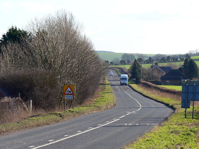 A338 south of Marr Green, Wiltshire