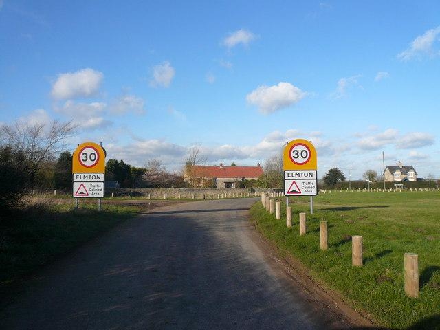 Entering the Village of Elmton