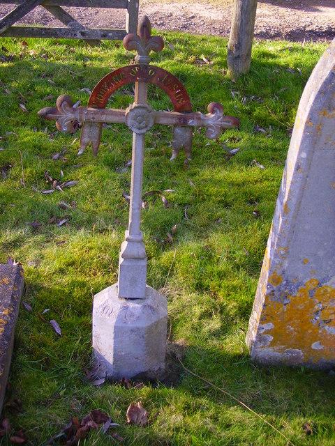 Bullington - Iron Grave Marker