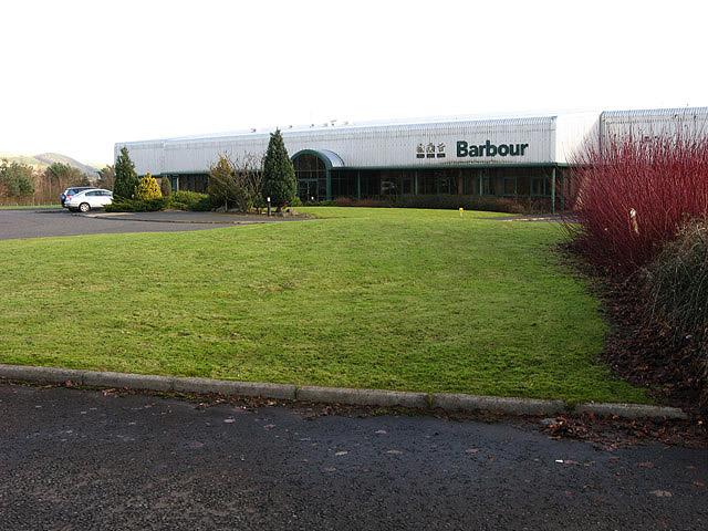 Barbour factory at Tweedbank