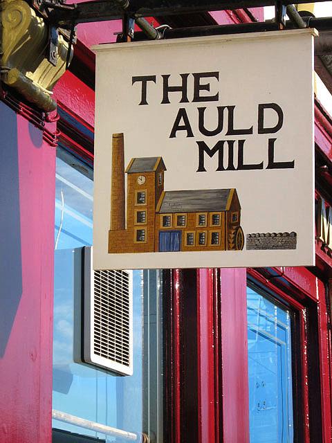 The Auld Mill Inn sign