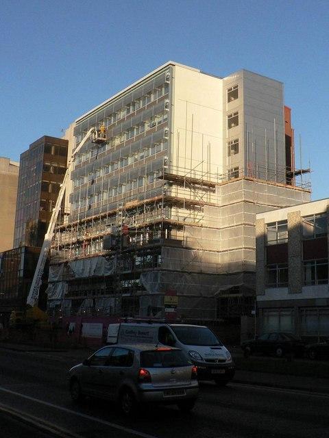 Bournemouth: Studland House (a crane is deployed)