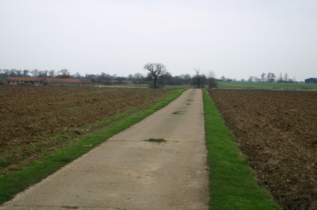 Lane up to Park Farm