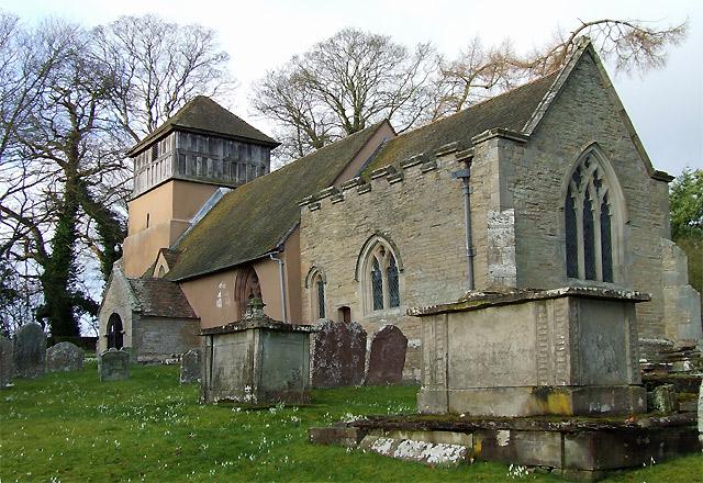 The Church of St James at Shipton, Shropshire