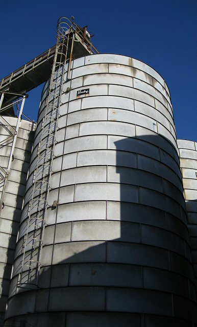 Silo at the old mill