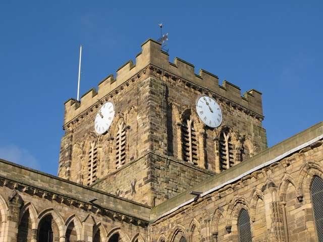 The tower of Hexham Abbey