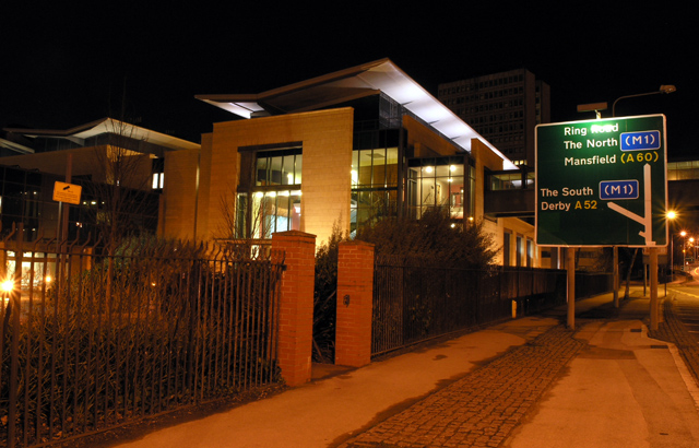 The Centre for Biomolecular Sciences - Night view