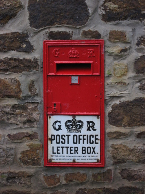 """George V """"Ludlow"""" postbox at the Allenheads Heritage Centre"""