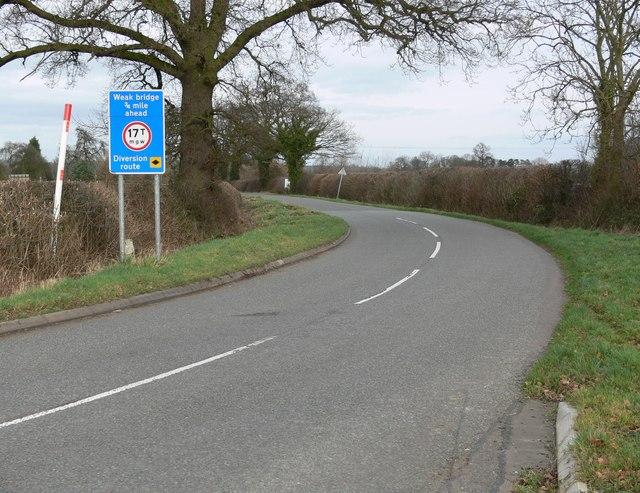 Upton Lane towards Sunnyside Nurseries