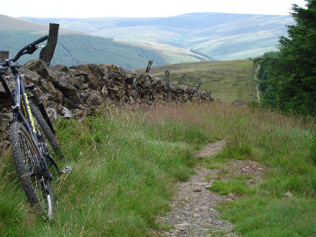 The 'Boundary Trail' at Glentress