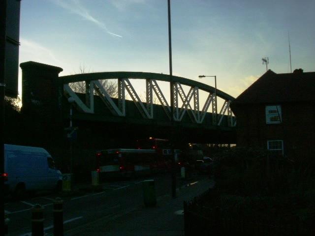 Central Line railway bridge, Du Cane Road, W12