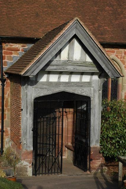 Church porch, St Kenelm's Church, Romsley