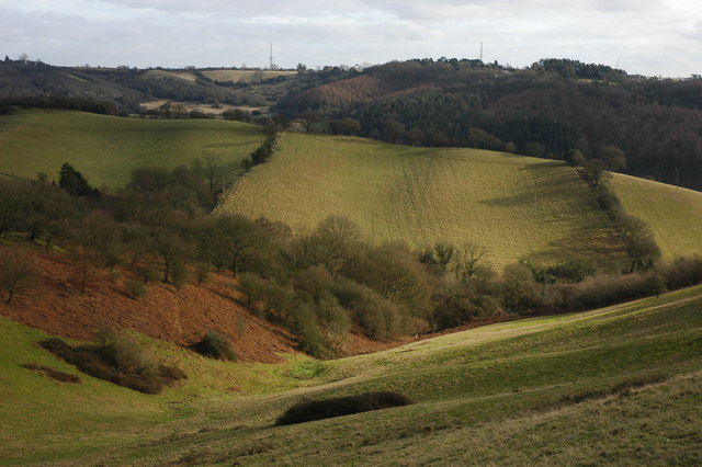 Hills to the east of Walton Hill