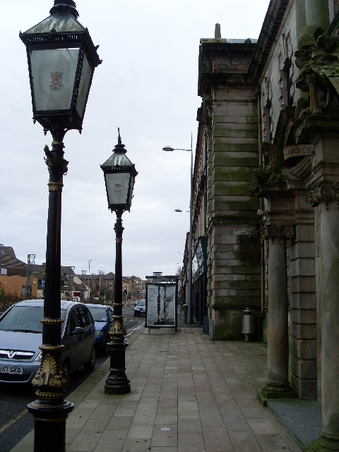 Ornate lampposts on Dumbarton Road
