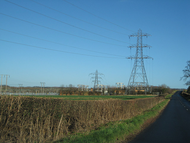 Electricity sub-station north of Prior's Frome