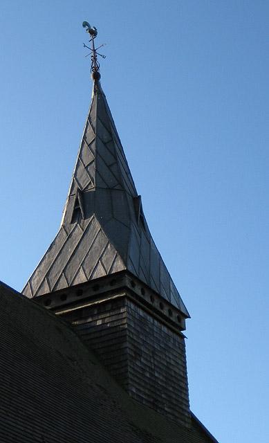 Spire detail, St. Peter's Church, Dormington