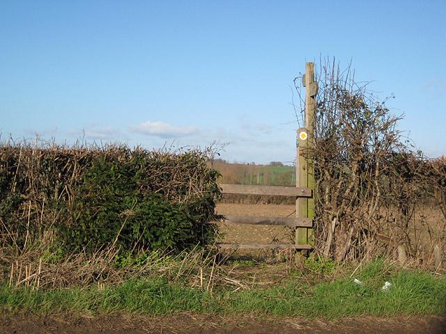 Short footpath from Dormington