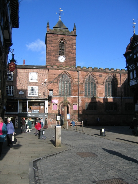 St Peter's Church and Chester Cross